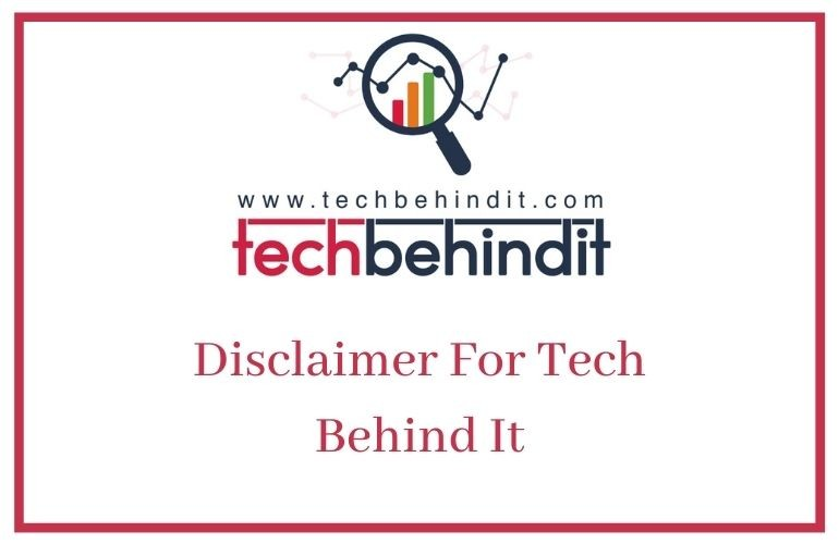 Disclaimer For Tech Behind It