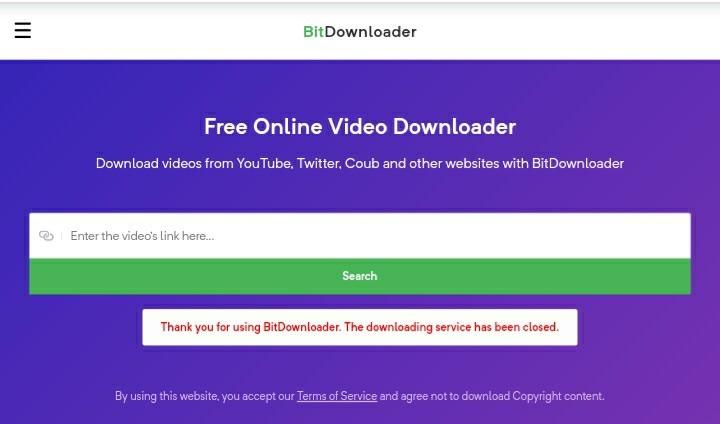 Bitdownloader video downloader.
