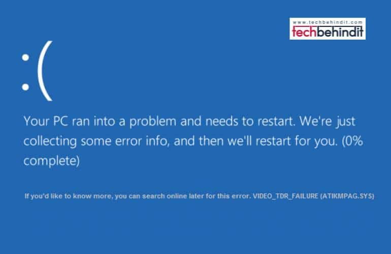 How Can You Fix Atikmdag.sys BSoD in Windows 10/8/7?