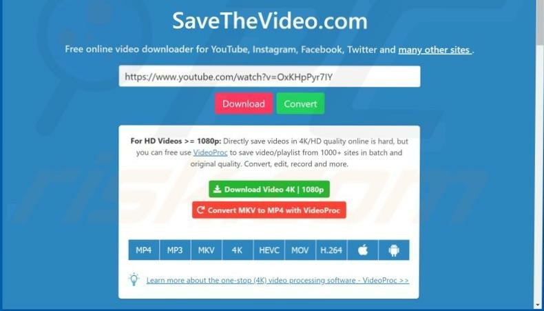 Savethevideo Online Video Downloader