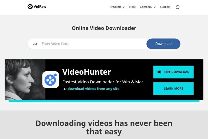 Vidpaw Video Downloader Online