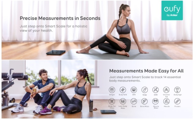 Measure Weight, BMI and More Accurately with Eufy Smart Scale P1