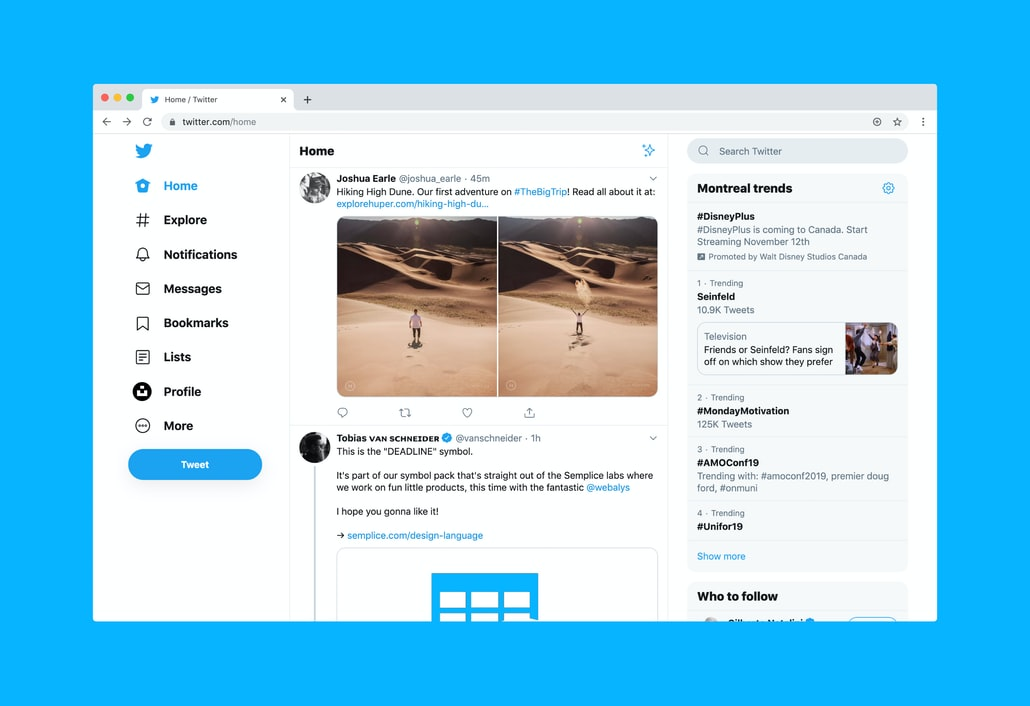 take part in activities- twitter