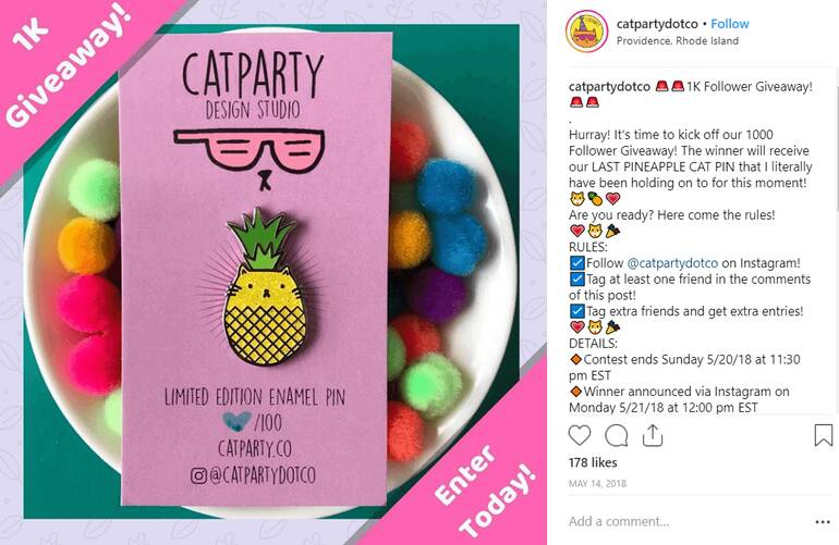 catparty-instagram-giveaway-ideas