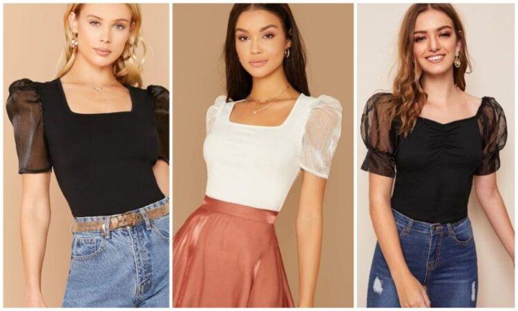 Wear peasant blouses as a crop top