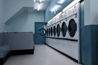 How to organize laundry room with dryer sheet dispenser