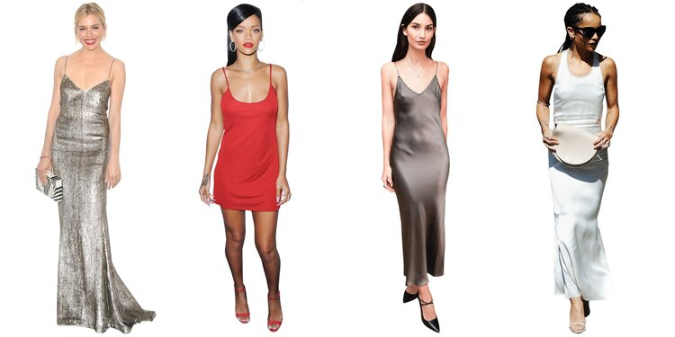 Wear a slip dress but with a casual touch to it -
