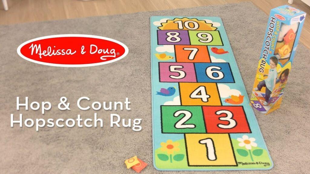 Hopscotch count fun math game