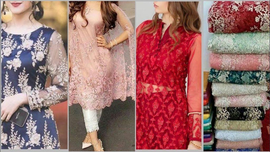 Lace fabric dress