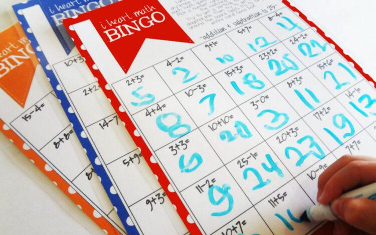 Math Bingo math game