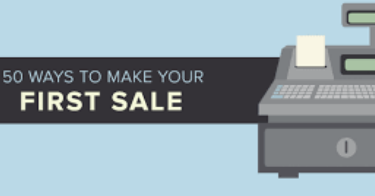 50 Ways To Make Your First Sale Online