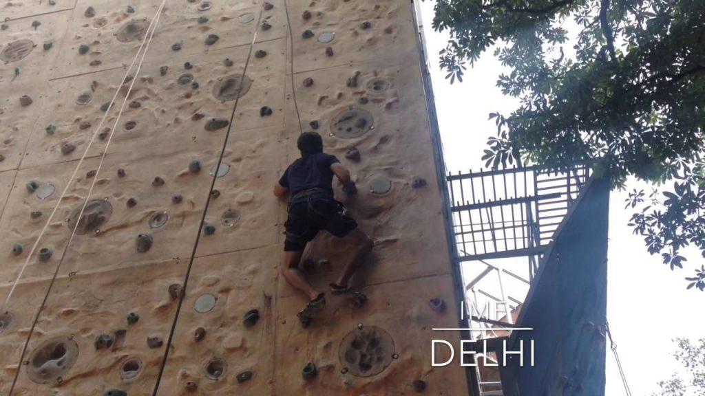 rock climbing at the IMF
